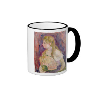 Young Girl with a Fan, 1893 Ringer Coffee Mug