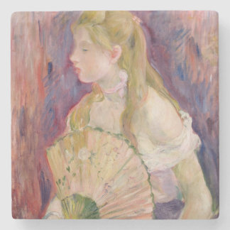 Young Girl with a Fan, 1893 Stone Beverage Coaster