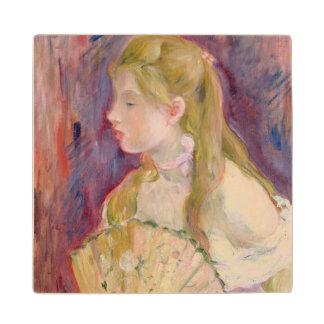 Young Girl with a Fan, 1893 Wood Coaster