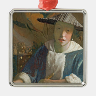 Young Girl with a Flute, c.1665-70 Christmas Ornament