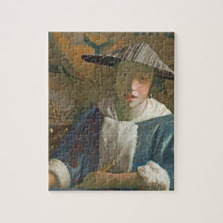 Young Girl with a Flute, c.1665-70 Jigsaw Puzzle