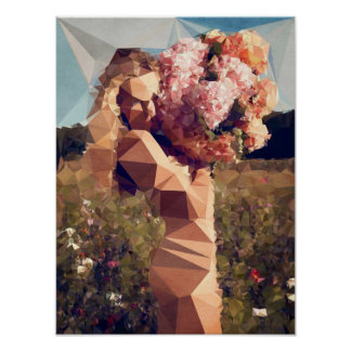 Young Girl with Bouquet - by Boris Draschoff Poster