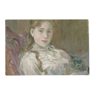 Young Girl with Cat, 1892 Laminated Placemat