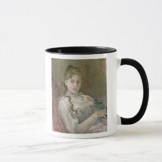 Young Girl with Cat, 1892 Mug