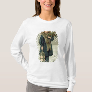 Young girl with Holly and Lantern T-Shirt
