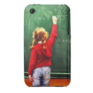 young girl writing on a blackboard iPhone 3 cases