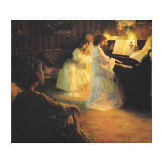 Young Girls at a Piano, 1906 Canvas Print