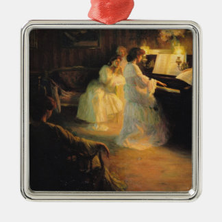 Young Girls at a Piano, 1906 Christmas Ornament