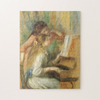 Young Girls at Piano by Pierre Renoir Jigsaw Puzzle