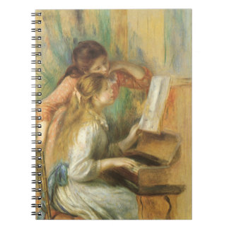 Young Girls at Piano by Pierre Renoir Notebook