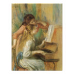Young Girls at Piano by Pierre Renoir Poster