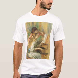 Young Girls at Piano by Pierre Renoir T-Shirt