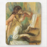 Young Girls at Piano by Renoir, Vintage Fine Art