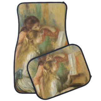 Young Girls at Piano by Renoir, Vintage Fine Art Car Mat