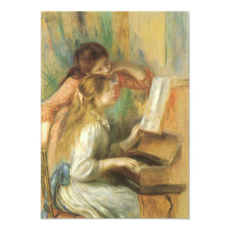 Young Girls at Piano by Renoir, Vintage Fine Art Custom Invites