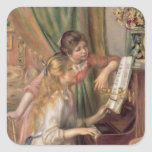 Young Girls at the Piano, 1892 Sticker