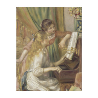 Young Girls at the Piano by Auguste Renoir Canvas Prints
