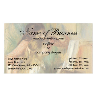 Young Girls at the Piano by Pierre Auguste Renoir Pack Of Standard Business Cards