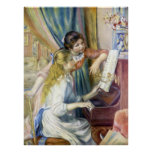 Young Girls at the Piano by Pierre Renoir Poster