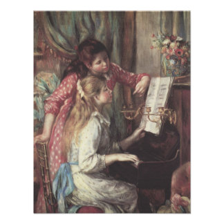 Young Girls at the Piano Renoir Impressionism Art Personalized Invite
