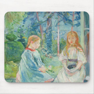 Young Girls at the Window, 1892 Mouse Mat