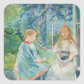 Young Girls at the Window, 1892 Square Sticker