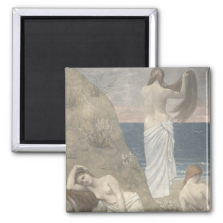 Young Girls by the Seaside by Puvis de Chavannes Fridge Magnets