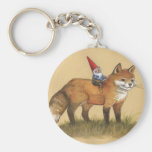 Young Gnome and Fox Keychain