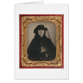 Young gold rush widow (399889) greeting card