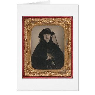 Young gold rush widow (399889) greeting card