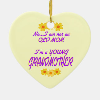 Young Grandmother Christmas Ornaments
