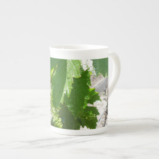 Young Green Grapes on the Vine in Spring Bone China Mug