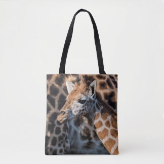 Young Griaffe by its Mother Tote Bag