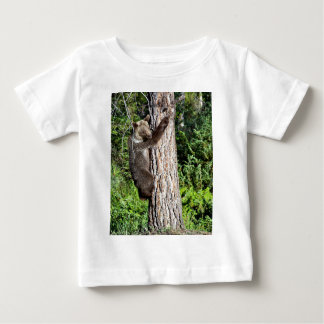 Young Grizzly Bear in a tree Tees