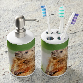 Young Groundhog Bath Accessory Set