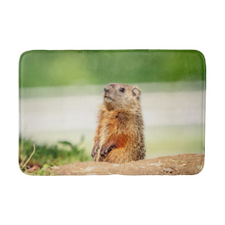 Young Groundhog Bath Mat