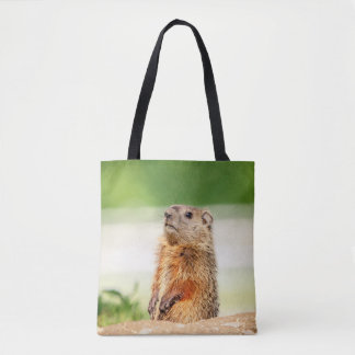 Young Groundhog Tote Bag