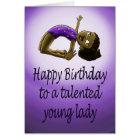 Young Gymnast Birthday Card
