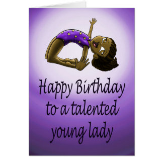 Young Gymnast Birthday Card