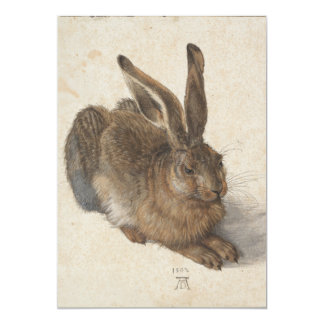 "Young Hare by Albrecht Durer 5"" X 7"" Invitation Card"
