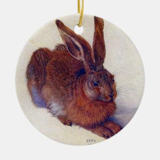 Young Hare by Albrecht Durer, Renaissance Fine Art Christmas Ornament
