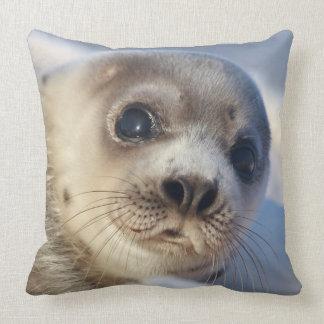Young Harp Seal Cushion