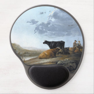 Young Herdsmen with Cows Gel Mouse Pad