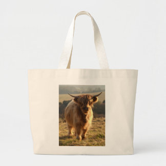 Young Highland Cow Large Tote Bag