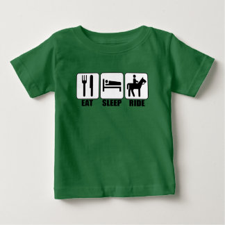 Young Horseback Rider Eat Sleep Ride Funny T-shirt