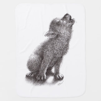 Young Howling Wolf Pramblankets