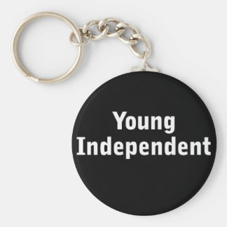 Young Independent Basic Round Button Key Ring