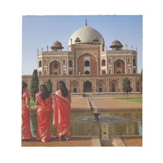 Young Indian ladies and Humayun's Tomb, Delhi, Notepad