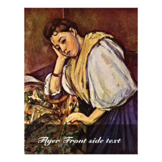 Young Italian Girl By Paul Cézanne (Best Quality) 21.5 Cm X 28 Cm Flyer