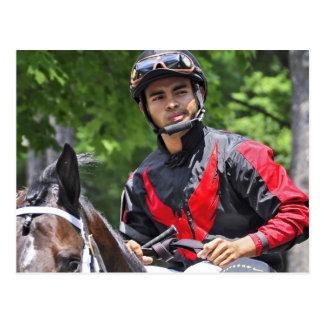 """Young Jockey Sensation """"Luis Saez"""" at Saratoga Postcards"""